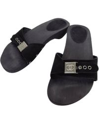 024eca0d3b744a Lyst - Chanel Pre-owned Sandal in Black