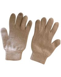 Burberry Wolle Handschuhe - Natur