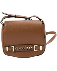 ae5f7da00692 Diane von Furstenberg - Woman Chain-embellished Textured-leather Shoulder  Bag Light Brown -