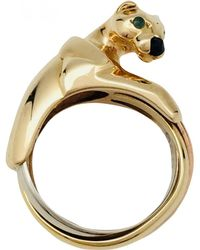 Cartier - Panthère Other Yellow Gold Ring - Lyst
