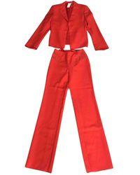 Versace Red Wool Jacket
