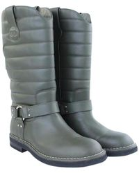 Chanel - Khaki Leather Boots - Lyst