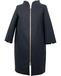 Herno - Black Cotton Coat - Lyst