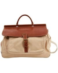 Polo Ralph Lauren - Beige Cloth Handbag - Lyst