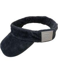 Chanel Chapeaux en Coton Gris