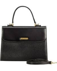 Burberry - Pre-owned Vintage Black Leather Handbags - Lyst