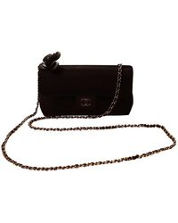 Chanel Sac à main Wallet on Chain en Soie Noir