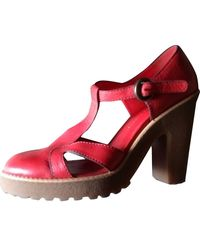 Marc By Marc Jacobs Leather Sandals - Red