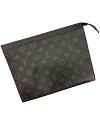 Louis Vuitton Voyage Leinen Taschen - Schwarz
