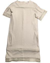 Chloé \n Ecru Wool Dress - Multicolour