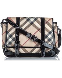 Burberry - Brown Plastic Handbag - Lyst