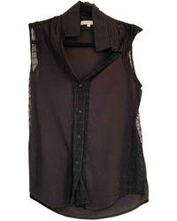 Sandro Lace Shirt - Black