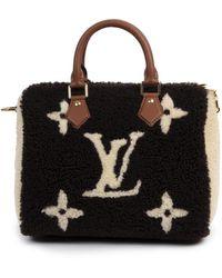Louis Vuitton Speedy Wolle Handtaschen - Schwarz