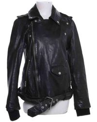 Jean Paul Gaultier Leather Biker Jacket - Black