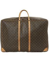 Louis Vuitton Sac de voyage en Cuir Marron