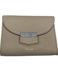 Céline - Beige Leather Wallets - Lyst