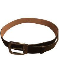 Chanel Cinturón en cuero negro
