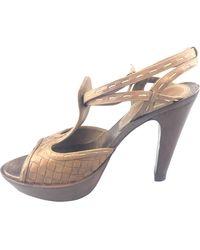Bottega Veneta - Brown Leather - Lyst