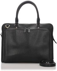Ferragamo Black Leather Handbag