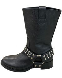 Zadig & Voltaire Roady Leather Biker Boots - Black
