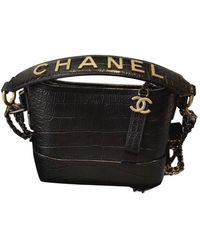 Chanel Gabrielle Leder Cross body tashe - Schwarz
