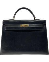 Hermès Kelly 35 Black Leather Handbag