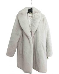 Diane von Furstenberg Faux Fur Coat - Multicolour