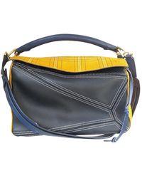 Loewe Puzzle Leather Crossbody Bag - Multicolor