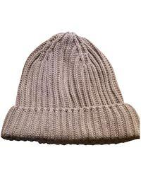Loro Piana Beige Cotton Hats - Multicolour