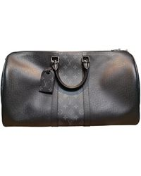 Louis Vuitton Keepall Leder 48 std/ tasche - Schwarz