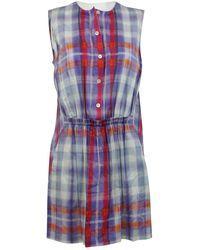 Thakoon Addition Blue Cotton Dress
