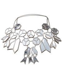 Nina Ricci Collar en metal plateado - Multicolor