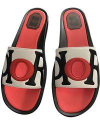 Dior Leder Pantoffeln - Mehrfarbig