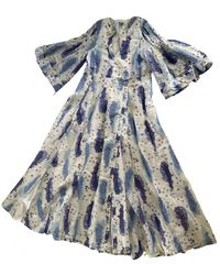 Thierry Colson Silk Maxi Dress - White