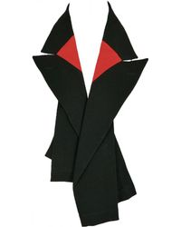 Comme des Garçons - Pre-owned Vintage Black Wool Scarves - Lyst