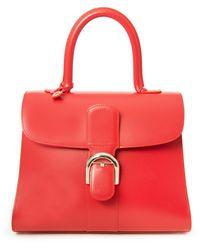 Delvaux - Le Brillant Red Leather Handbag - Lyst