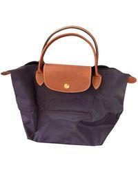 Longchamp Sac à main Pliage en Polyester Violet
