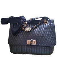 Lanvin Happy Black Leather Handbag