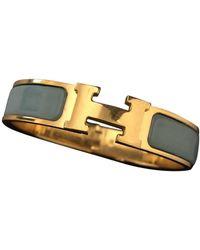 Hermès Clic H Gelbgold Armbänder - Blau