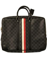 Louis Vuitton Porte Documents Voyage - Cloth Bag - Black