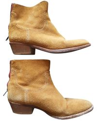 Zadig & Voltaire Teddy Leather Cowboy Boots - Multicolor