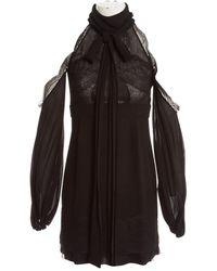 Givenchy Silk Maxi Dress - Black