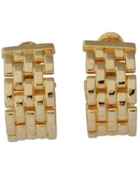 Cartier - Pre-owned Vintage Maillon Panthère Gold Yellow Gold Earrings - Lyst