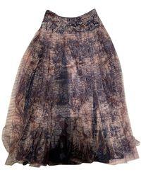 Dior Silk Mid-length Skirt - Multicolour
