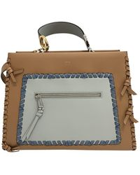 Fendi - Runaway Brown Leather Handbag - Lyst