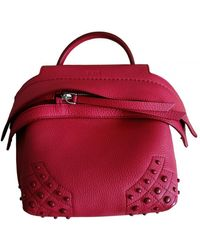 Tod's Wave Leather Crossbody Bag - Red