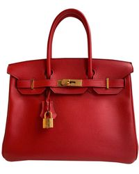 Hermès Birkin 30 Leder Handtaschen - Rot