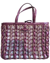 Nancy Gonzalez Purple Crocodile Handbag