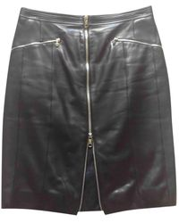 Loewe Leather Mid-length Skirt - Black