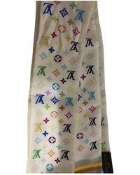 Louis Vuitton Logomania Seide Schals - Weiß